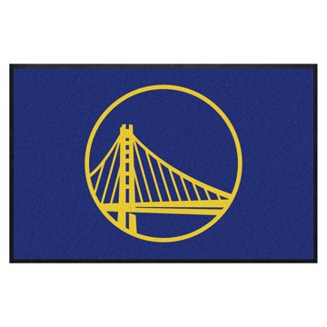 Picture of Golden State Warriors 4X6 High-Traffic Mat with Durable Rubber Backing