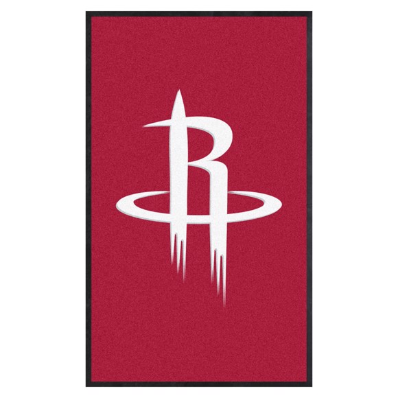 Picture of Houston Rockets 3X5 High-Traffic Mat with Durable Rubber Backing