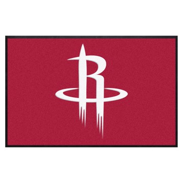Picture of Houston Rockets 4X6 High-Traffic Mat with Durable Rubber Backing