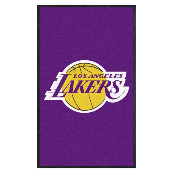 Picture of Los Angeles Lakers 3X5 High-Traffic Mat with Durable Rubber Backing