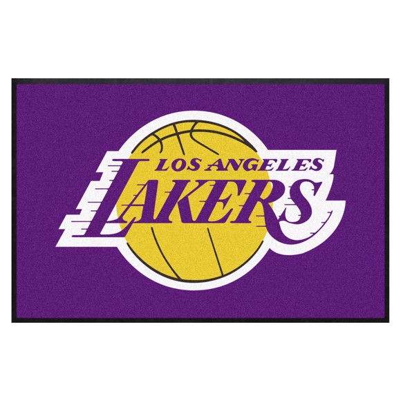 Picture of Los Angeles Lakers 4X6 High-Traffic Mat with Durable Rubber Backing