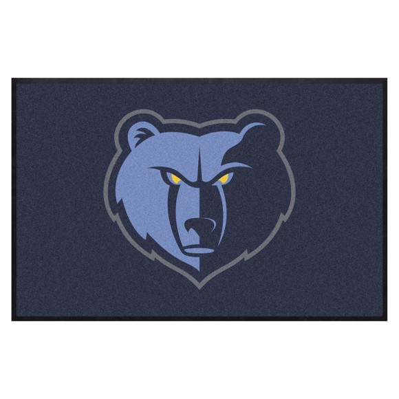 Picture of Memphis Grizzlies 4X6 High-Traffic Mat with Durable Rubber Backing