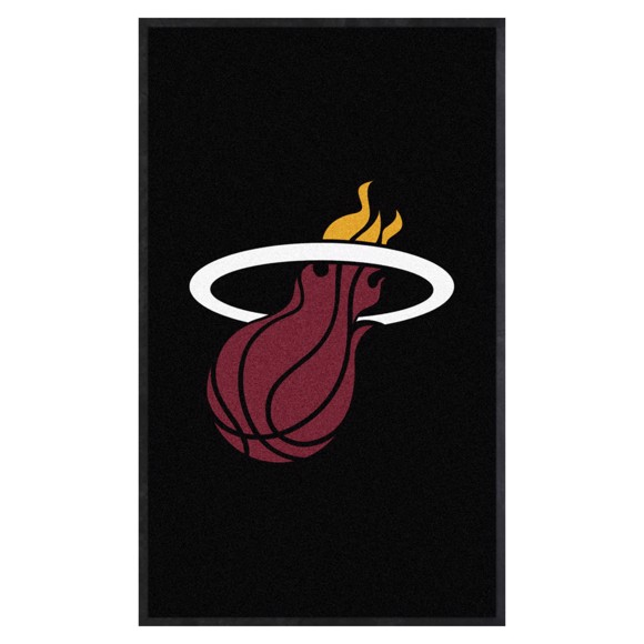 Picture of Miami Heat 3X5 High-Traffic Mat with Durable Rubber Backing