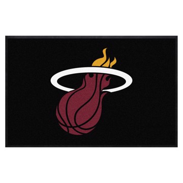 Picture of Miami Heat 4X6 High-Traffic Mat with Durable Rubber Backing