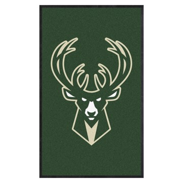 Picture of Milwaukee Bucks 3X5 High-Traffic Mat with Durable Rubber Backing