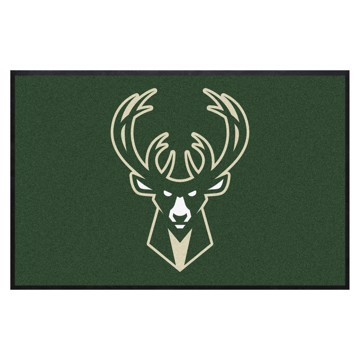 Picture of Milwaukee Bucks 4X6 High-Traffic Mat with Durable Rubber Backing