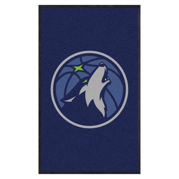 Picture of Minnesota Timberwolves 3X5 High-Traffic Mat with Durable Rubber Backing
