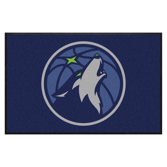 Picture of Minnesota Timberwolves 4X6 High-Traffic Mat with Durable Rubber Backing