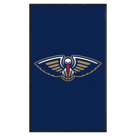 Picture of New Orleans Pelicans 3X5 High-Traffic Mat with Durable Rubber Backing