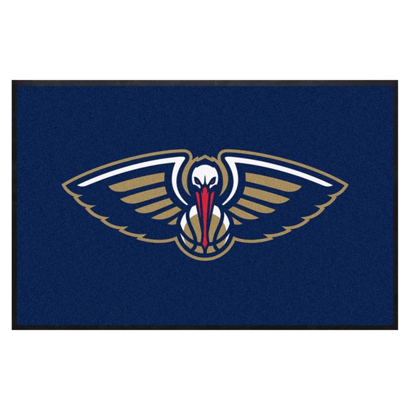Picture of New Orleans Pelicans 4X6 High-Traffic Mat with Durable Rubber Backing