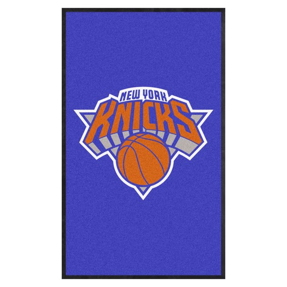 Picture of New York Knicks 3X5 High-Traffic Mat with Durable Rubber Backing