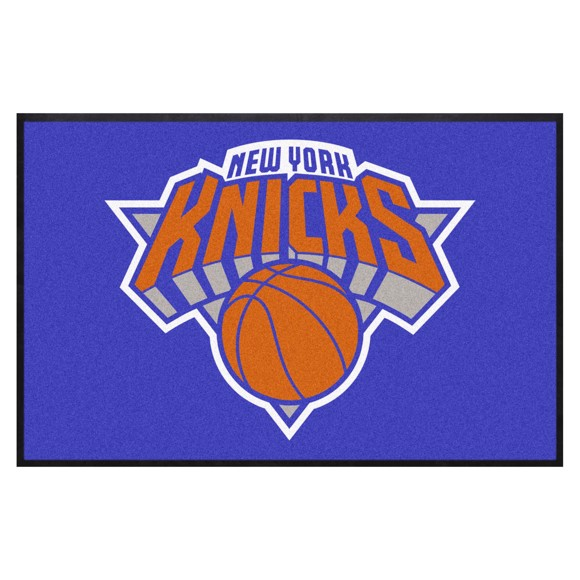 Picture of New York Knicks 4X6 High-Traffic Mat with Durable Rubber Backing