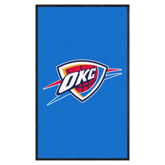Picture of Oklahoma City Thunder 3X5 High-Traffic Mat with Durable Rubber Backing