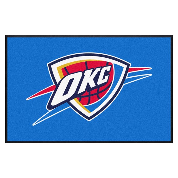 Picture of Oklahoma City Thunder 4X6 High-Traffic Mat with Durable Rubber Backing