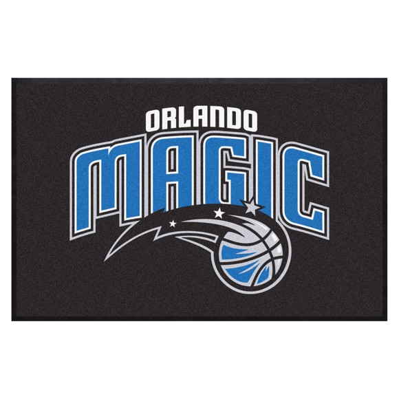 Picture of Orlando Magic 4X6 High-Traffic Mat with Durable Rubber Backing