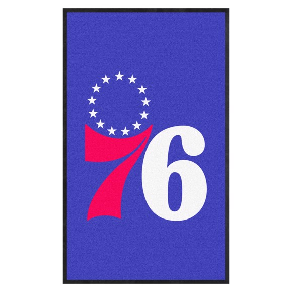 Picture of Philadelphia 76ers 3X5 High-Traffic Mat with Durable Rubber Backing