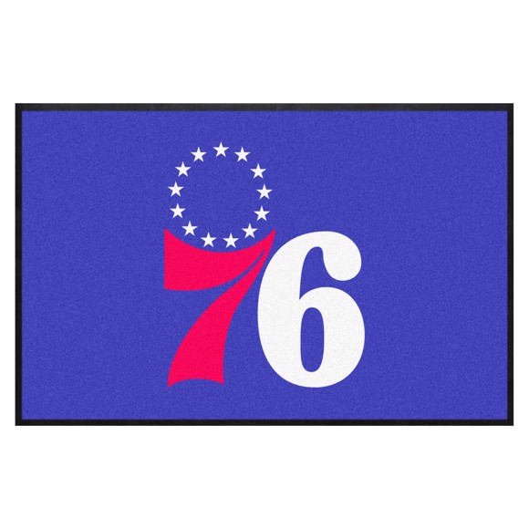 Picture of Philadelphia 76ers 4X6 High-Traffic Mat with Durable Rubber Backing