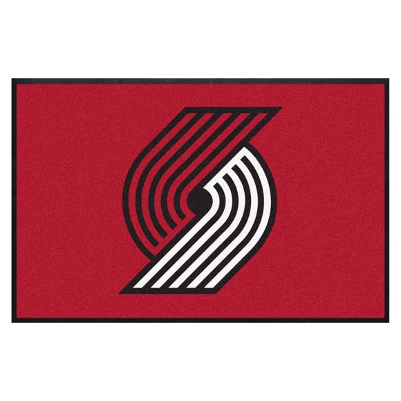 Picture of Portland Trail Blazers 4X6 High-Traffic Mat with Durable Rubber Backing
