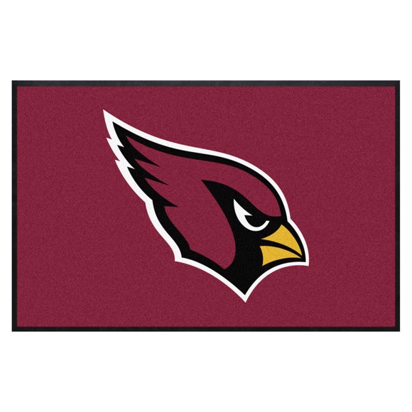 Picture of Arizona Cardinals 4X6 High-Traffic Mat with Durable Rubber Backing