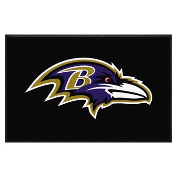Picture of Baltimore Ravens 4X6 High-Traffic Mat with Durable Rubber Backing
