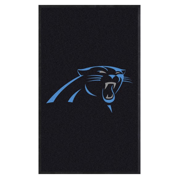 Picture of Carolina Panthers 3X5 High-Traffic Mat with Durable Rubber Backing