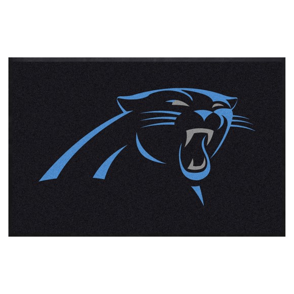 Picture of Carolina Panthers 4X6 High-Traffic Mat with Durable Rubber Backing