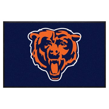 Picture of Chicago Bears 4X6 High-Traffic Mat with Durable Rubber Backing