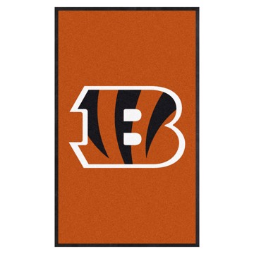 Picture of Cincinnati Bengals 3X5 High-Traffic Mat with Durable Rubber Backing