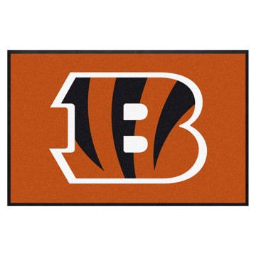Picture of Cincinnati Bengals 4X6 High-Traffic Mat with Durable Rubber Backing