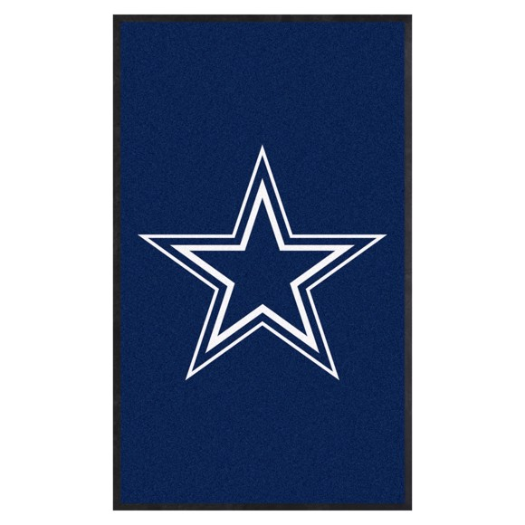 Picture of Dallas Cowboys 3X5 High-Traffic Mat with Durable Rubber Backing