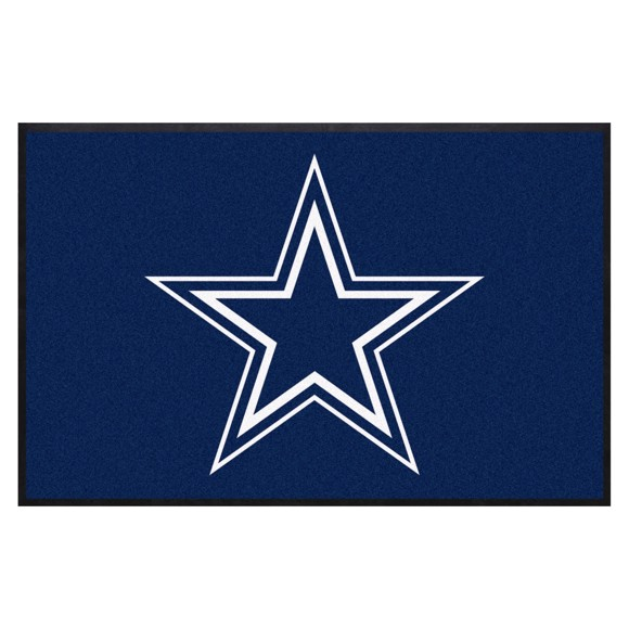 Picture of Dallas Cowboys 4X6 High-Traffic Mat with Durable Rubber Backing