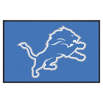 Picture of Detroit Lions 4X6 High-Traffic Mat with Durable Rubber Backing