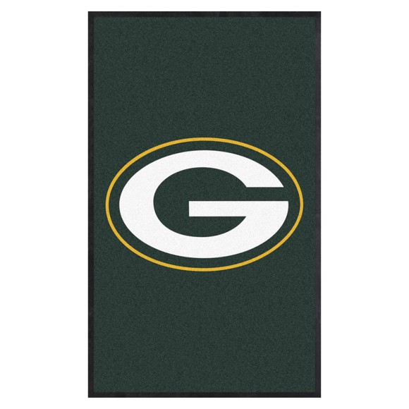Picture of Green Bay Packers 3X5 High-Traffic Mat with Durable Rubber Backing