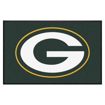 Picture of Green Bay Packers 4X6 High-Traffic Mat with Durable Rubber Backing