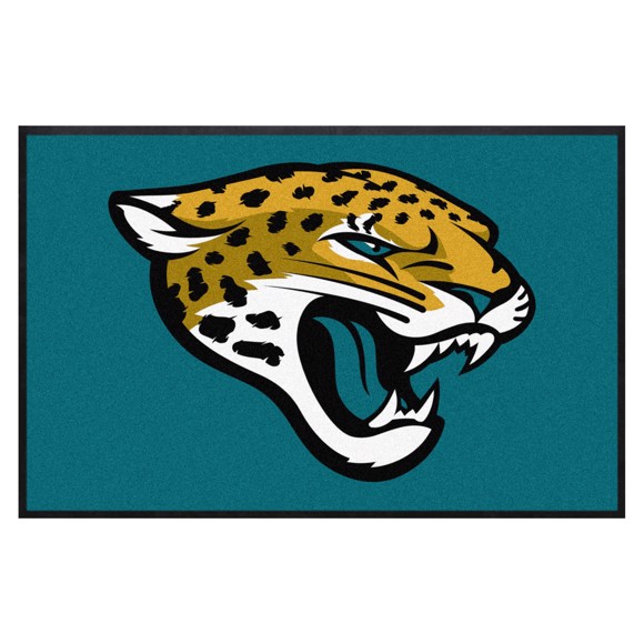 Picture of Jacksonville Jaguars 4X6 High-Traffic Mat with Durable Rubber Backing
