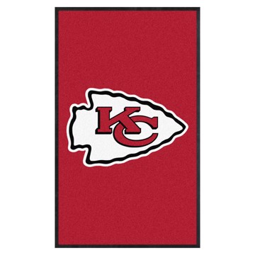 Picture of Kansas City Chiefs 3X5 High-Traffic Mat with Durable Rubber Backing