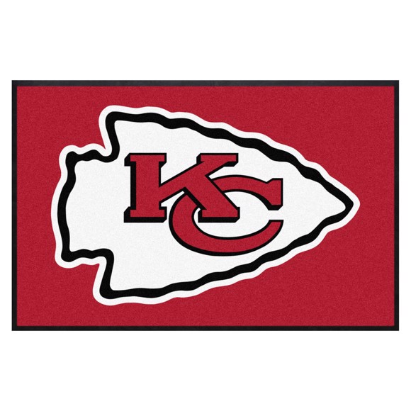 Picture of Kansas City Chiefs 4X6 High-Traffic Mat with Durable Rubber Backing