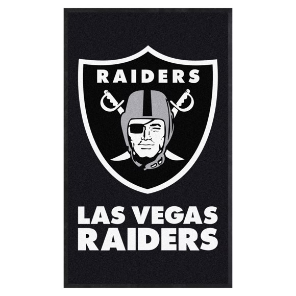 Picture of Las Vegas Raiders 3X5 High-Traffic Mat with Durable Rubber Backing
