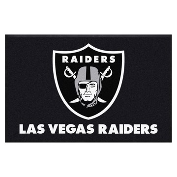 Picture of Las Vegas Raiders 4X6 High-Traffic Mat with Durable Rubber Backing