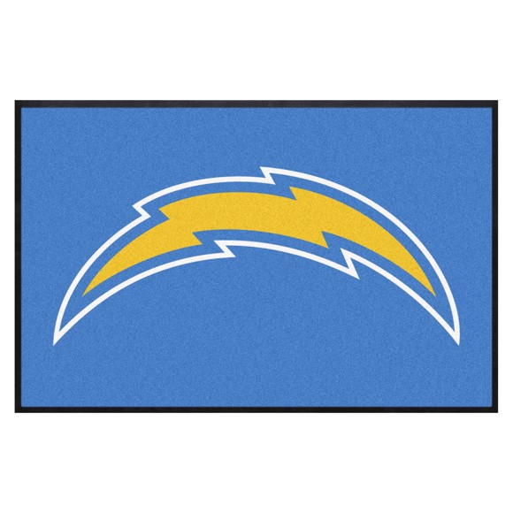 Picture of Los Angeles Chargers 4X6 High-Traffic Mat with Durable Rubber Backing