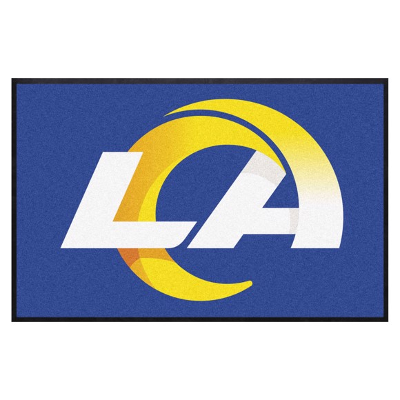 Picture of Los Angeles Rams 4X6 High-Traffic Mat with Durable Rubber Backing