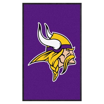 Picture of Minnesota Vikings 3X5 High-Traffic Mat with Durable Rubber Backing