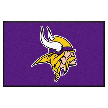 Picture of Minnesota Vikings 4X6 High-Traffic Mat with Durable Rubber Backing