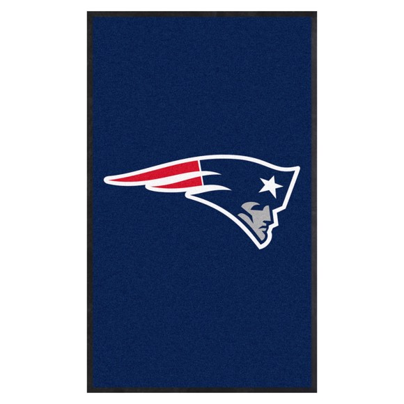 Picture of New England Patriots 3X5 High-Traffic Mat with Durable Rubber Backing