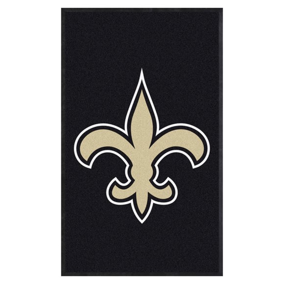 Picture of New Orleans Saints 3X5 High-Traffic Mat with Durable Rubber Backing