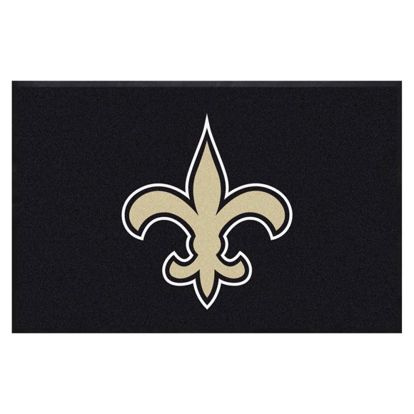 Picture of New Orleans Saints 4X6 High-Traffic Mat with Durable Rubber Backing