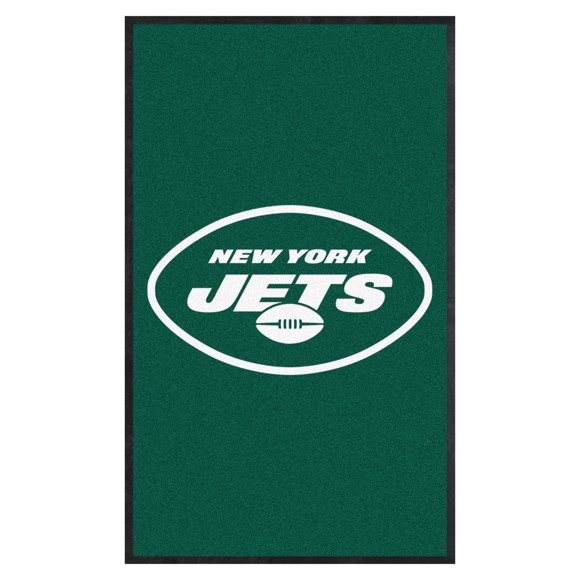 Picture of New York Jets 3X5 High-Traffic Mat with Durable Rubber Backing