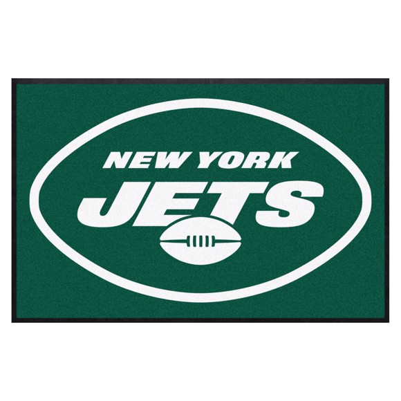 Picture of New York Jets 4X6 High-Traffic Mat with Durable Rubber Backing