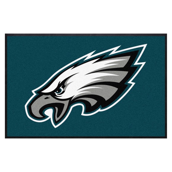 Picture of Philadelphia Eagles 4X6 High-Traffic Mat with Durable Rubber Backing