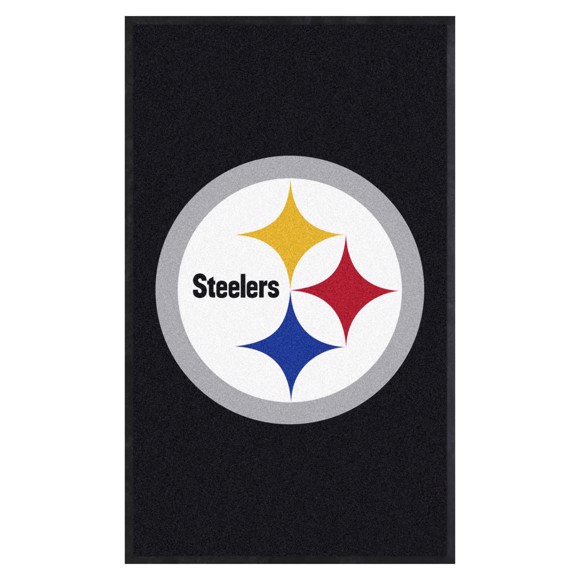 Picture of Pittsburgh Steelers 3X5 High-Traffic Mat with Durable Rubber Backing